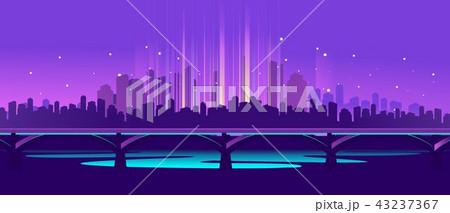 neon city bridge 43237367