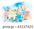 European old town Colorful houses in the summer resort town 43237425