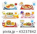 食 料理 食べ物のイラスト 43237842