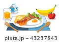 食 料理 食べ物のイラスト 43237843