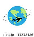飛行機 世界 飛行のイラスト 43238486