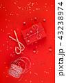 クリスマス 赤い 赤色の写真 43238974