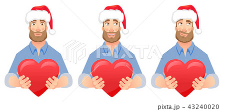 man gives heart set 43240020
