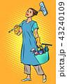 女性 メス きれいのイラスト 43240109