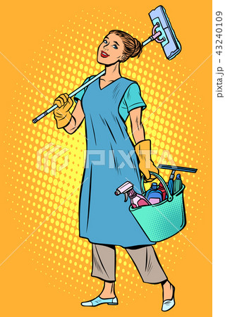 woman cleaner profession 43240109