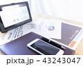 タブレット グラフ ビジネスの写真 43243047