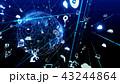 テクノロジー ネットワーク オンラインのイラスト 43244864