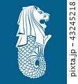 Merlion statue on blue 43245218