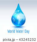 ウォーター 水 水分のイラスト 43245232