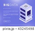 ビッグデータ サーバー データベースのイラスト 43245498