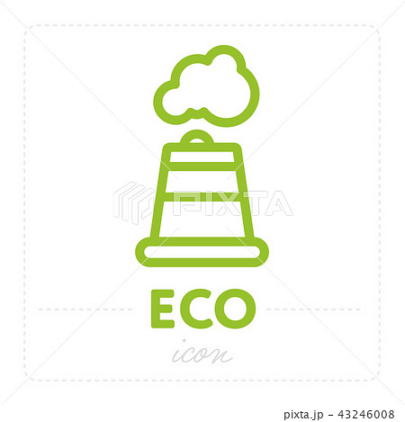 Simple factory icon in green color 43246008