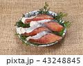 荒巻鮭 鮭 切り身の写真 43248845