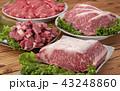 牛肉 肉 生肉の写真 43248860