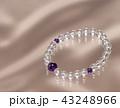 アメジストと水晶のブレスレット 43248966