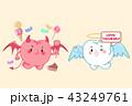 ケア キャラクター 文字のイラスト 43249761