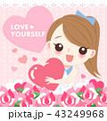 ビューティー 美人 かわいいのイラスト 43249968