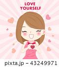 ビューティー 美人 かわいいのイラスト 43249971