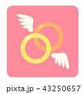 結婚指輪 指輪 リングのイラスト 43250657
