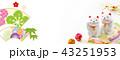 年賀バナー2019 招き猫 43251953