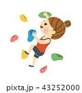 ボルダリングをする女性 43252000