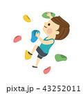ボルダリングをする男性 43252011