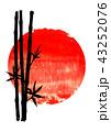 バンブー 人影 影のイラスト 43252076