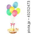 風船と赤ちゃん 43252473