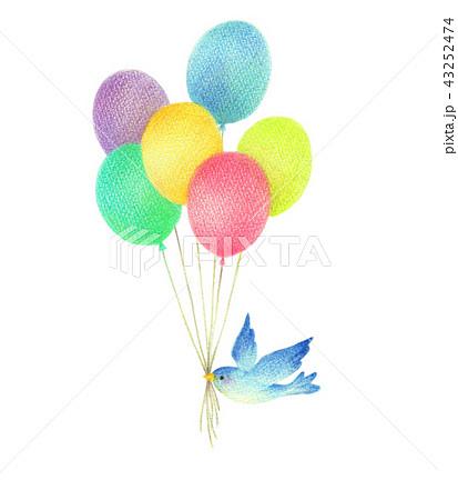 風船と青い鳥 43252474