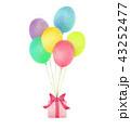 風船とプレゼント 43252477
