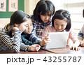 女の子 小学生 授業の写真 43255787