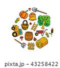収穫 実り 農業のイラスト 43258422
