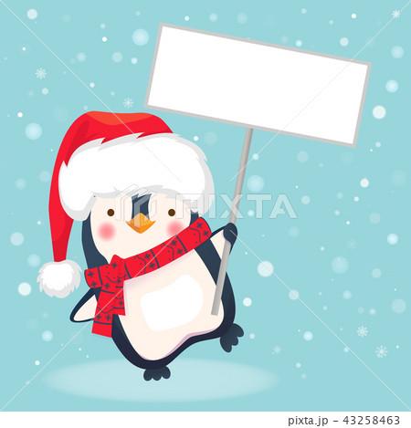 penguin holding sign 43258463