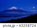 富士山 世界文化遺産 月の写真 43258724