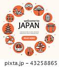 日本 神社 だるまのイラスト 43258865
