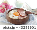 ランチョンミートと目玉焼き丼 43258901