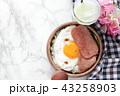 ランチョンミートと目玉焼き丼 43258903