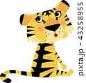 虎 赤ちゃん ネコ科のイラスト 43258955