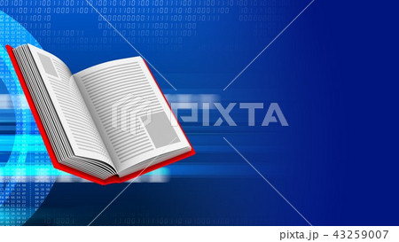 3d abstract with opened book  43259007