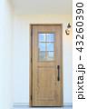 モデルハウスのお洒落な玄関ドア 43260390