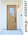 モデルハウスのお洒落な玄関ドア 43260397