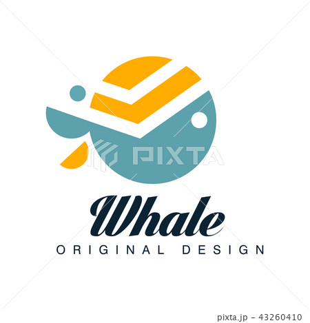 whale original design logo template can be used for brand identity