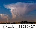 入道雲と稲妻 43260427