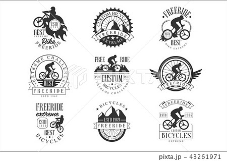 custom made free ride bike shop black and white sign design