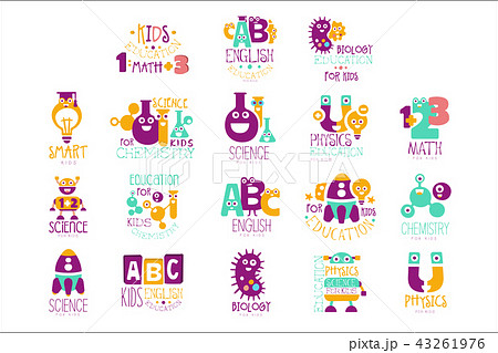 kids science education extra curriculum club logo templates in