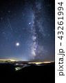 《流星群写真》 ペルセウス座流星群と天の川と流星 43261994