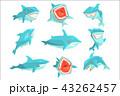サメ シャーク 鮫のイラスト 43262457