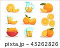 オレンジ オレンジ色 橙のイラスト 43262826