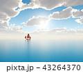 セイルボート 帆かけ舟 帆掛け船のイラスト 43264370