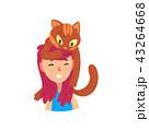 ねこ ネコ 猫のイラスト 43264668