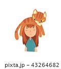 ねこ ネコ 猫のイラスト 43264682